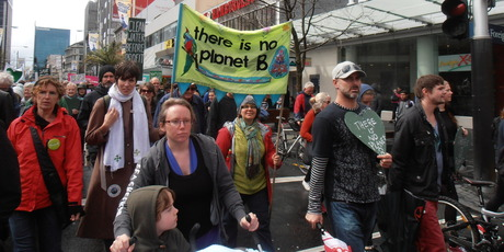 Some supporters travelled from other cities to take part in the march in Auckland. Photo / Liz Rawlings