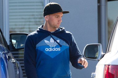 All Black Aaron Cruden leaves his Hamilton home this afternoon. Photo / Christine Cornege