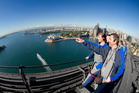 Climbing to the top of the Sydney Harbour Bridge is not for the faint-hearted.