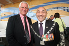 Carterton District Council deputy mayor John Booth, left, and mayor Ron Mark at the inaugural meeting of the newly-elected council last year.