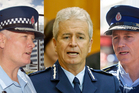 The police officers include John Tims, Peter Marshall and Mike Bush. Photo / NZH