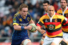 Hayden Parker of Otago on the attack. Photo / Getty Images