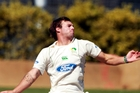 STAGS WEAPON: Doug Bracewell took two wickets on day one of the Stags' Plunket Shield fixture against the Knights at McLean Park yesterday. PHOTO/FILE