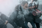 Opposition leader Vitali Klitschko is attacked and sprayed with a fire extinguisher as he tries to calm the situation. Photo / AP
