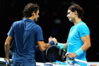 Roger Federer (L) and Rafael Nadal. Photo / Getty Images