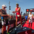 Pictured from left Richie Cunningham (2nd) from Australia, Jan Frodeno (First) of Germany and Terenzo Bozzone(Third) from New Zealand celebrate their placings in the Ironman 70.3 Auckland.