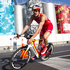 Jan Frodeno of Germany in action during the bike section of the Ironman 70.3 Auckland. Photo / Richard Robinson