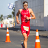 Jan Frodeno of Germany in the run section of the Ironman 70.3 Auckland. Photo / Richard Robinson