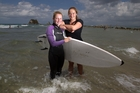 Hannah (left) and Lauren Williams saved four children and an adult from heavy surf at Mangawhai Heads on Tuesday. Photo / Richard Robinson