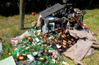 Household rubbish dumped outside a house in Irongate Rd. Photo/Warren Buckland