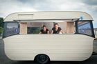 HOPEFUL: Ricky Lee and Anna Lawrence, owners of food caravan Dutch Queen have welcomed the news Tauranga City Council may review its mobile shops policy.PHOTO/ANDREW WARNER