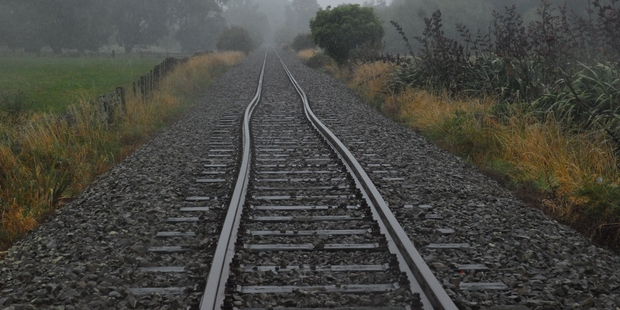 TWISTED: An earthquake-damaged railway line in Mauriceville. WTA210114KHRAILWAY01