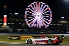 The Action Express Racing Corvette DP during night practice for the IMSA Series Rolex 24-hour race at Daytona. Photo / AP
