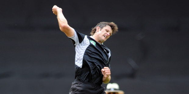 Hamish Bennett could make his first ODI appearance since March 2011 as a replacement for Kyle Mills. Photo / NZPA