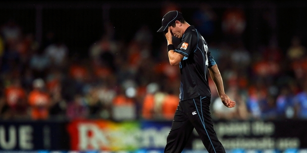 Fast bowler Adam Milne has been told to make sure he is fully fit before returning to the fray. Photo / Getty Images
