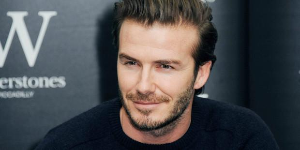 Football super star David Beckham. Photo / AFP
