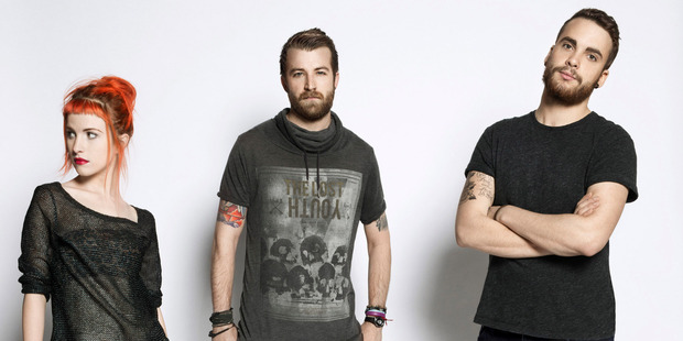 Hayley Williams, Jeremy Davis and Taylor York of Paramore.