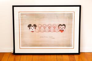 Mickey to Tiki print by Dick Frizzell. Photo / Babiche M