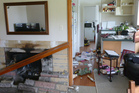 Pictures taken by Paul Dickens of damage to his Alfreton home caused by the earthquake.