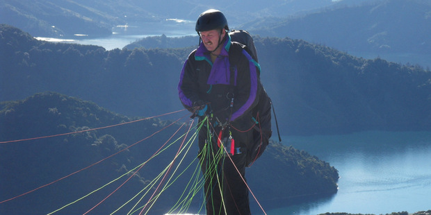 Howard Hudson took off from a hill near Picton in 'perfect' conditions on his second solo flight.