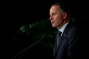 Prime Minister John Key delivering his state of the nation speech. Photo / Sarah Ivey