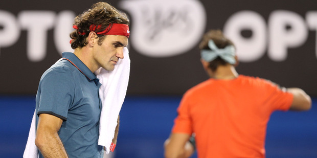 Federer tried to be Federer but Nadal wouldn't let him. Photo / AP