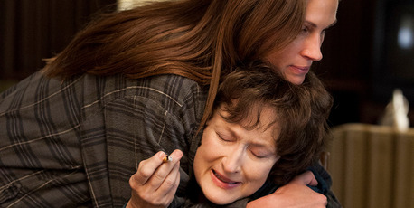 Julia Roberts and Meryl Streep star in 'August: Osage County'.