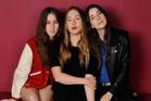 Haim sisters, from left, Alana, Este and Danielle. Photo / AP
