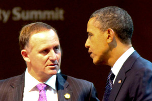 New Zealand Prime Minister John Key meets with American President Barack Obama. Photo / National Party