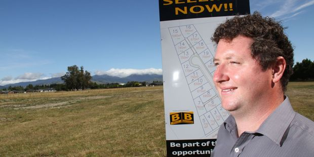 BETTER TIMES:  Gareth Norris says feedback from real estate agents shows there is a shortage of new homes. PHOTO/ANDREW BONALLACK