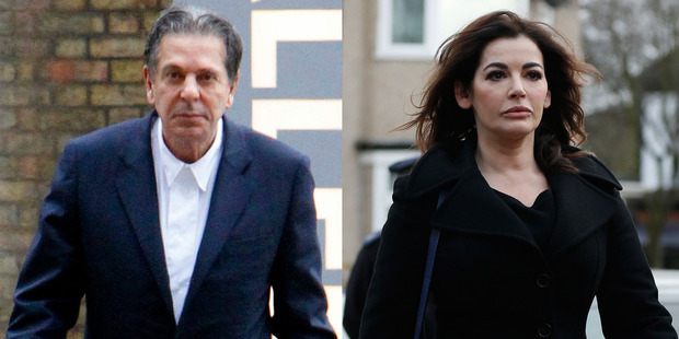 Charles Saatchi and Nigella Lawson. Photo / Snapper Media, AP