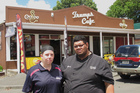 Lorraine and Waa Whareaitu are calling quits on their Kaikohe cafe after more than a dozen break-ins. They have lost hope. Photo / APN