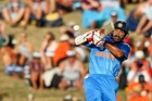 Shikhar Dhawan was among several top Indian batsmen who struggled against short-pitched deliveries at McLean Park. Photo / Getty Images