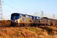 The Amtrak Empire Builder crosses the plains of Wisconsin. Photo / Wikimedia Commons image posted by user NateBeal