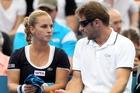 Dominika Cibulkova and coach Matej Liptak have formed a winning team. Photo / AP