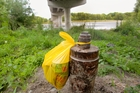 LEFT HANGING: Rubbish dumped under the expressway bridge, on Omond Rd, Ngaruroro Riverbank, Hastings. PHOTOGRAPH /WARREN BUCKLAND