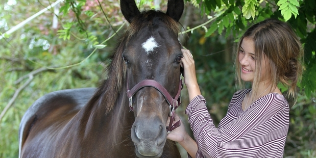 Stella is back with her owner Ashleigh Kearns after she was stolen from a Riverbend Road paddock.