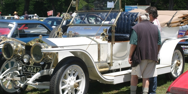Adrian Garrett's 1907 Rolls-Royce Silver Ghost, winner of the People's Choice Award at the Far North Vintage Car Club's Autospectacular at Taipa. Photo/Peter Jackson
