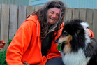 Housing NZ tenant Taina Goodwillie with her dog Bracken. Photo / Craig Baxter