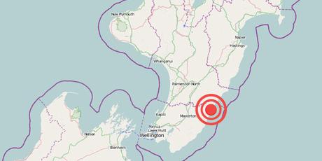 The centre of the quake zone.