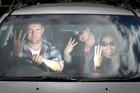 Simon Soulsby, Christine Jones and Rajitha Kurkulasuriya get hand signals going for the cameras. Photo / Natalie Slade