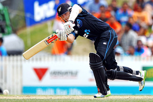 Kane Williamson has anchored the hosts' two totals in the Indian series with scores of 71 and 77. Photo / Getty Images