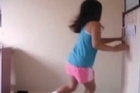 Donovan Cowley sent nzherald.co.nz this reaction on camera of his daughter Cameryn to today's 6.2 earthquake, she was filming herself when the earth started shaking. Also before Race 11 in the Manawatu, the earthquake is captured in the moments leading up to the start of the race.