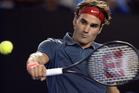 Roger Federer wound back the clock to book his 11th consecutive quarter-final appearance in Melbourne. Photo / AP