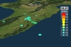 Updated map with data from geonet.org.nz showing the 6.2 earthquake and the following aftershocks for the lower North Island of New Zealand.