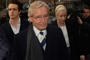 British actor William Roache, who plays Ken Barlow in television drama Coronation Street, arrives at Preston Crown Court ahead of his rape trial. Photo / AFP