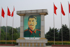 A giant portrait of Stalin in China's Central Nenjiecun, Henan Province. Photo / John Summers