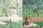 Can you spot the forgery? One of these paintings is 'In the woods at Giverny' by Claude Monet. The other is a fake by infamous forger Elmyr de Hory.
