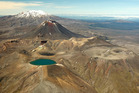 A view over Tongariro National Park looking from the Blue Lake towards Mt Ruapehu. Photo / Greg Bowker