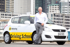 AA Driving School general manager Nigel Clark expects more than 500 new drivers a month to take up the three-lesson offer. Photo / Richard Robinson